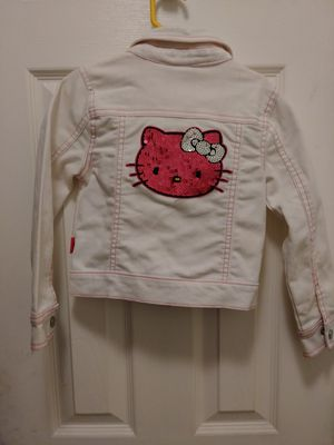 Size 4 Hello Kitty jacket has a few stains on the sleeve I've not tried to get them out for Sale in Garland, TX