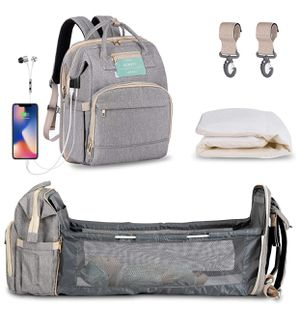 Diaper Bag Backpack with Extendable Folding Crib for Sale in Irvine, CA