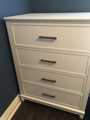 White dresser with gold handles for Sale in Hazlet, NJ