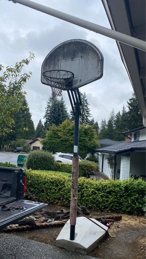 Free Lifetime Portable & adjustable Basketball Hoop (pending pickup) for Sale in Mill Creek, WA