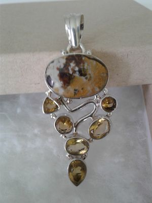 Sterling Silver Multi-Gemstone Pendant for Sale in Woodbridge, VA