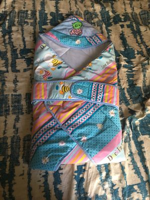 Brand New Baby Holder (Swaddling cloth with foam) Awesome comfort to baby for Sale in Houston, TX
