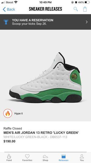 Jordan 13 lucky green size 8 for Sale in Jacksonville, FL