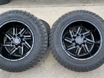 20x12 INCH DFD OFF-ROAD RIMS WITH 35x12.50R20 TIRES for Sale in Grand Prairie,  TX