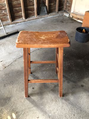 Sturdy, clean wooden barn stool. Great condition! for Sale in Tacoma, WA