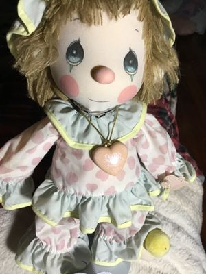 """Precious Moments Lasts Forever 14"""" Plush Clown With Stand By Applause for Sale in Turlock, CA"""
