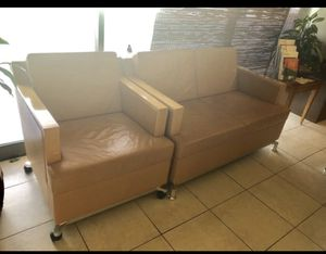 Receptionist desk,credenza,two chairs,love seat,and chair for Sale in Fort Lauderdale, FL