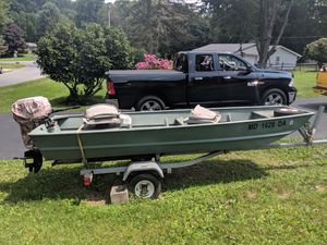 John boat with trailer and motor for Sale in Monrovia, MD