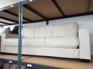 White leather futon for Sale in Fontana, CA