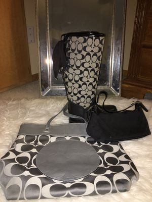 Coach Bundle Fur Lined Rain Boots Size 7 for Sale in Wilsonville, OR