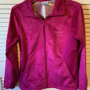 Women's Columbia Pink Fleece Jacket Size Small for Sale in Federal Way, WA