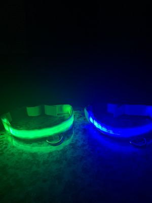 Flashing LED pet dog collar USB rechargeable for Sale in Chula Vista, CA