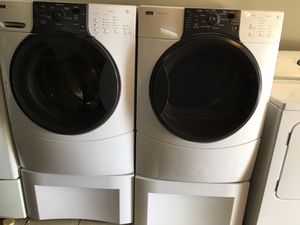 Kenmore Elite Washer and Electric Dryer Set with Pedestal $550 for Sale in Orlando, FL