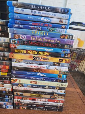 122 Movie Lot. Mostly DVDs but a few Blu-ray. for Sale in Glendale, AZ
