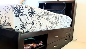 Full bed with mattress, storage & bookshelf included in good condition. for Sale in San Diego, CA