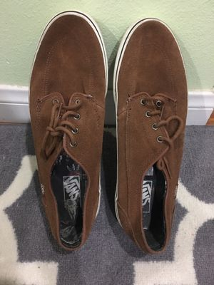 Vans Men Brown Leather Shoes Size 12 for Sale in Whittier, CA