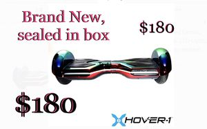 Hover-1 Eclipse UL Certified Electric Hoverboard w/ 6.5 Wheels, LED Lights, Bluetooth Speaker, and App enabled - Iridescent NEVER OPENED for Sale in Chandler, AZ