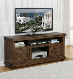 "TV CONSOLE 60"" ANTIQUE BROWN for Sale in Fullerton, CA"
