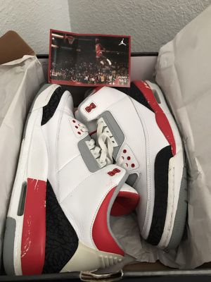 "2007 Jordan 3 III ""Fire Red"" Size 13 for Sale in San Francisco, CA"