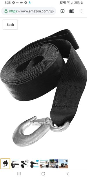 "Trailer Marine Boat Winch Strap,2"" x20' Winch Strap 10000 Lbs Max Towing Traction Weight, Used for Boats, Trailer. for Sale in Tustin, CA"