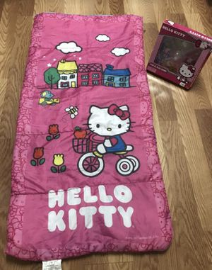 Girls Hello Kitty Sleeping Bag & POP Up Game for Sale in Spring, TX
