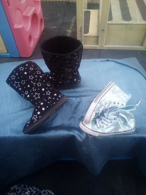 ed3740552a64 Girls shoes  2 each or both for 7 boots are size 3 the shoes are size