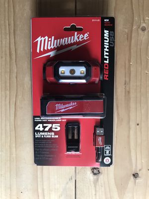 Milwaukee 475 Lumens LED Rechargeable Hard Hat Headlamp for Sale in Queens, NY