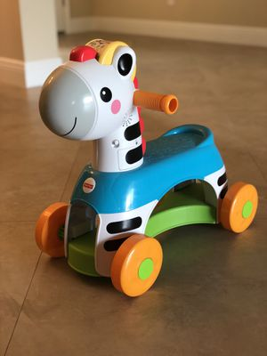 Fisher Price Zebra Ride On- Kids Toy (Excellent Condition) for Sale in Port St. Lucie, FL