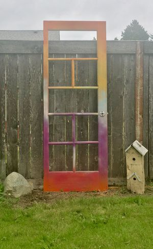 Awesome old door yard decor 😊 🌈 for Sale in Tacoma, WA
