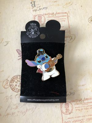 2003 Disney Pin Trading Around the World, Stitch as Elvis with guitar pin trading for Sale in Wheaton, IL
