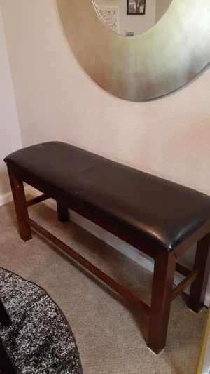 Wood leather bench chair for Sale in Orlando, FL