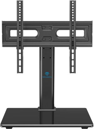 PERLESMITH Universal TV Stand Table Top TV Base for 32 to 55 inch LCD LED OLED 4K Plasma Flat Screen TVs - Height Adjustable TV Mount Stand with Temp for Sale in Pomona, CA
