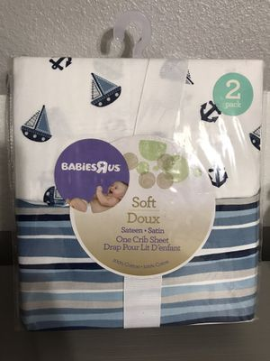 2 pack nautical crib sheets for Sale in Apopka, FL