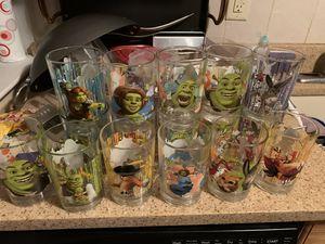 Mcdonalds shrek collector glasses goes on ebay for $6+ each for Sale in Highlands, NJ
