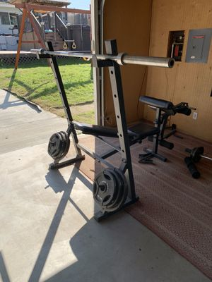 Squat rack/bench press for Sale in San Diego, CA