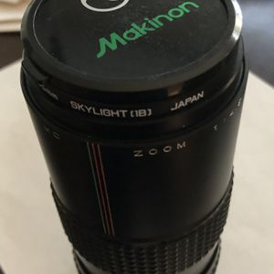 VINTAGE 1979 MAKINON MC Zoom 55 1:4.5 f=80-200mm Lens with Canon adapter and case for Sale in Murfreesboro, TN