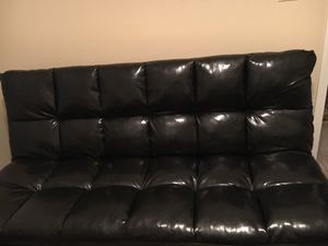 Brand new black leather futon bed for Sale in Pensacola, FL
