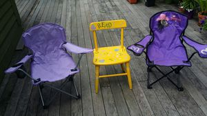 Kids chair's good condition, All 3 for $ 12 pick up only . Dover . for Sale in Dover, NH