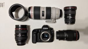 Canon 5D IV with Log + 16-35, 28-70, 70-200, 100mm L 2.8 Lenses for Sale in Chicago, IL