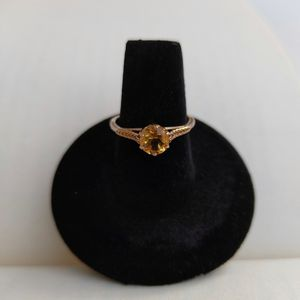 14k gold over Sterling silver - Antique Citrine filigree engagement promise ring - size 7 for Sale in Sheridan, CO