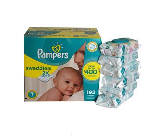 Pampers Swaddlers Diapers/ Pampers Sensitive Wipes for Sale in Miramar, FL