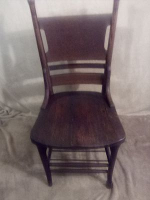 Antique oak chair with Bible rack for Sale in Pittsburgh, PA