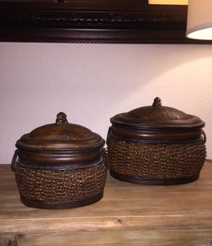 Beautiful Storage Containers from JC Penny Home Store for Sale in San Antonio, TX