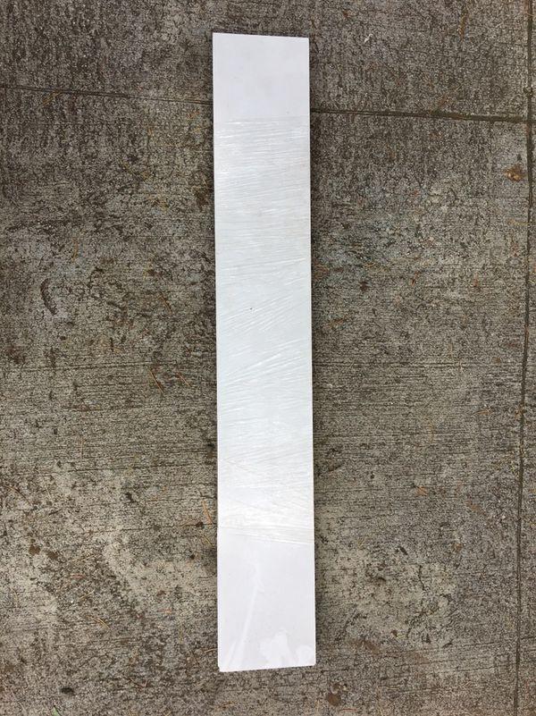 White wall floating shelves