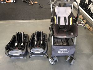Baby Trend: Car Seat, Snap-n-go, 2 x seat bases for Sale in Elk Grove, CA