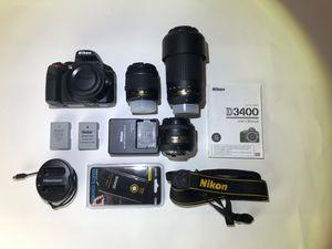 NIKON D3400 MEGA BUNDLE - Great for beginning photographers! for Sale in Burbank, CA