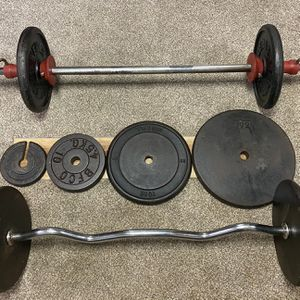 Weightlifting set (200 lbs. total) for Sale in Buffalo Grove, IL