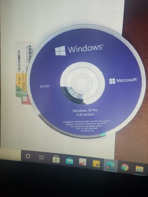 Microsoft Windows 10 Professional DVD Media + Product Key Code, original Sealed Package (NEW) for Sale in Ontario, CA