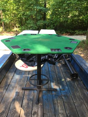 "Two bar style table s 3'5"" tall 3 foot in diameter for Sale in Amherst, VA"