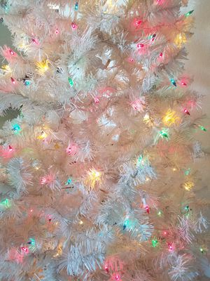 6.5 foot white Christmas tree with storage bin for Sale in Las Vegas, NV